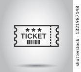 cinema ticket icon in flat... | Shutterstock .eps vector #1321987148