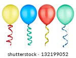 collection of  various balloons ... | Shutterstock . vector #132199052