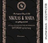 elegant template wedding card.... | Shutterstock .eps vector #1321991558