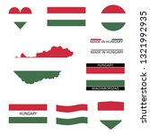 some hungarian flags and a map | Shutterstock .eps vector #1321992935