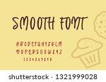 vector set alphabets. smooth... | Shutterstock .eps vector #1321999028