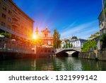 cityscape view on ljubljanica...   Shutterstock . vector #1321999142