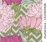 floral background. seamless... | Shutterstock .eps vector #1322003468
