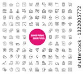 simple set of over 100 outline...   Shutterstock .eps vector #1322005772