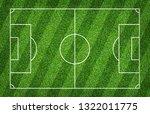 football field or soccer field... | Shutterstock . vector #1322011775