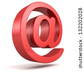 Red Shiny At E Mail Symbol On...
