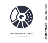 round value chart icon on white ... | Shutterstock .eps vector #1322020928