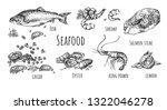 vector illustration of seafood... | Shutterstock .eps vector #1322046278