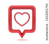 3d social media notification... | Shutterstock . vector #1322051792