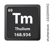 thulium  chemical element icon. ...   Shutterstock .eps vector #1322055452