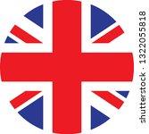 united kingdom  flag. simple... | Shutterstock .eps vector #1322055818