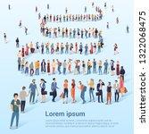 flat design croud of people... | Shutterstock .eps vector #1322068475