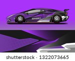 car wrap decal racing design... | Shutterstock .eps vector #1322073665