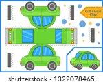 cut and glue a mini car.... | Shutterstock .eps vector #1322078465