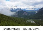 cascade mountain and sulphur... | Shutterstock . vector #1322079398