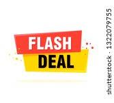 flash sale tag  banner design... | Shutterstock .eps vector #1322079755