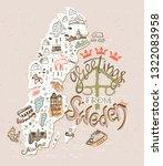 hand drawn illustration of... | Shutterstock . vector #1322083958