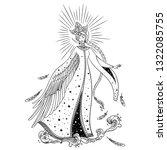 beautiful princess swan....   Shutterstock .eps vector #1322085755