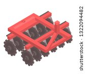 red tractor machinery icon.... | Shutterstock .eps vector #1322094482