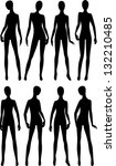 black silhouettes dummies... | Shutterstock .eps vector #132210485