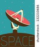 vector minimal design   space... | Shutterstock .eps vector #132210686