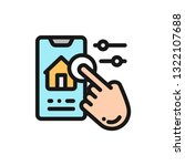 color line icon smart home...