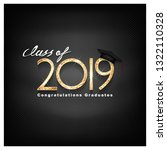 vector text for graduation gold ... | Shutterstock .eps vector #1322110328