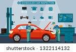 flat banner scheduled car... | Shutterstock .eps vector #1322114132