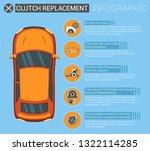 flat banner infographic clutch... | Shutterstock .eps vector #1322114285