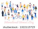 international womens day 8... | Shutterstock .eps vector #1322115725