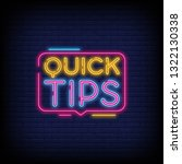 quick tips neon signs with a... | Shutterstock .eps vector #1322130338