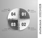 3d paper infographics cut... | Shutterstock .eps vector #132214328