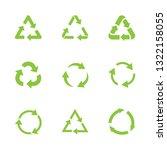 vector set green recycle sign.... | Shutterstock .eps vector #1322158055