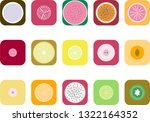 colourful image of fruits cuts | Shutterstock .eps vector #1322164352