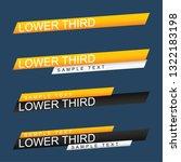 lower third design template....   Shutterstock .eps vector #1322183198