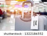 travel insurance tag on...   Shutterstock . vector #1322186552