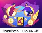 businessmen handshaking through ...   Shutterstock .eps vector #1322187035