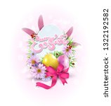 vector easter  background  with ... | Shutterstock .eps vector #1322192582
