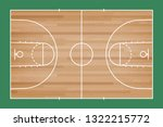 basketball court floor with... | Shutterstock .eps vector #1322215772