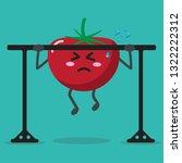 cartoon tomato health strong... | Shutterstock .eps vector #1322222312