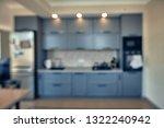 blurred image of modern kitchen ... | Shutterstock . vector #1322240942