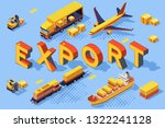export road air concept.... | Shutterstock .eps vector #1322241128
