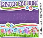 vector poster for easter egg... | Shutterstock .eps vector #1322241902