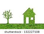 concept or conceptual house...   Shutterstock . vector #132227108
