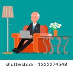 businessman working at the...   Shutterstock .eps vector #1322274548