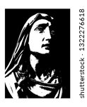 our lady of sorrows vector | Shutterstock .eps vector #1322276618