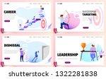 set of business concept website ... | Shutterstock .eps vector #1322281838