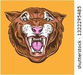 the tiger head | Shutterstock .eps vector #1322295485