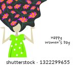 happy women's day on march 8th... | Shutterstock .eps vector #1322299655