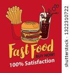 vector banner for fast food...   Shutterstock .eps vector #1322310722